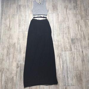 Solemio Long Mesh Skirt with Shorts